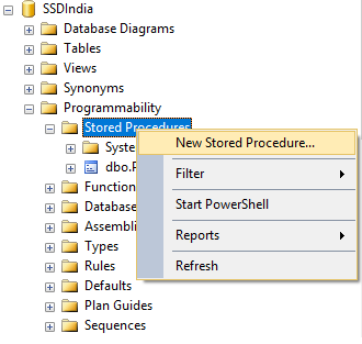 How to create Stored Procedure in SQL