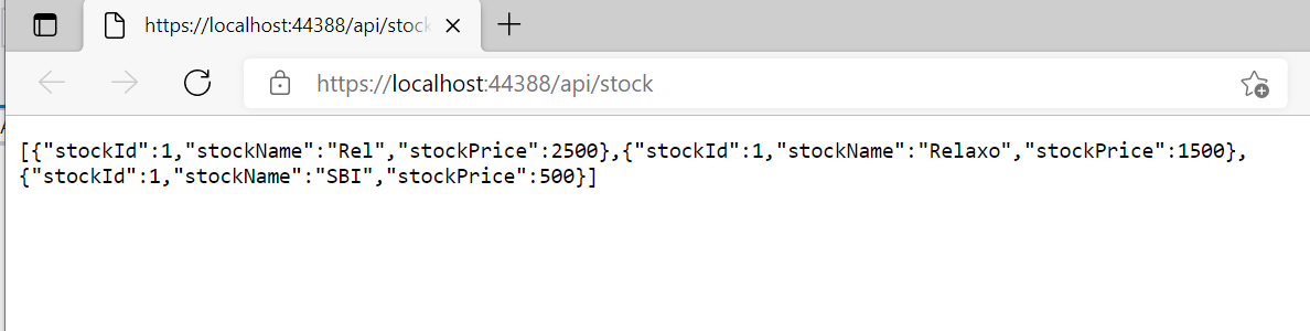 ASP.NET core web API example C#